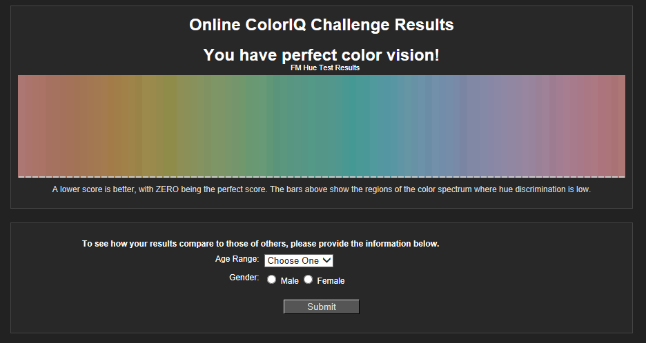 onlinecolorchallengeの結果画面