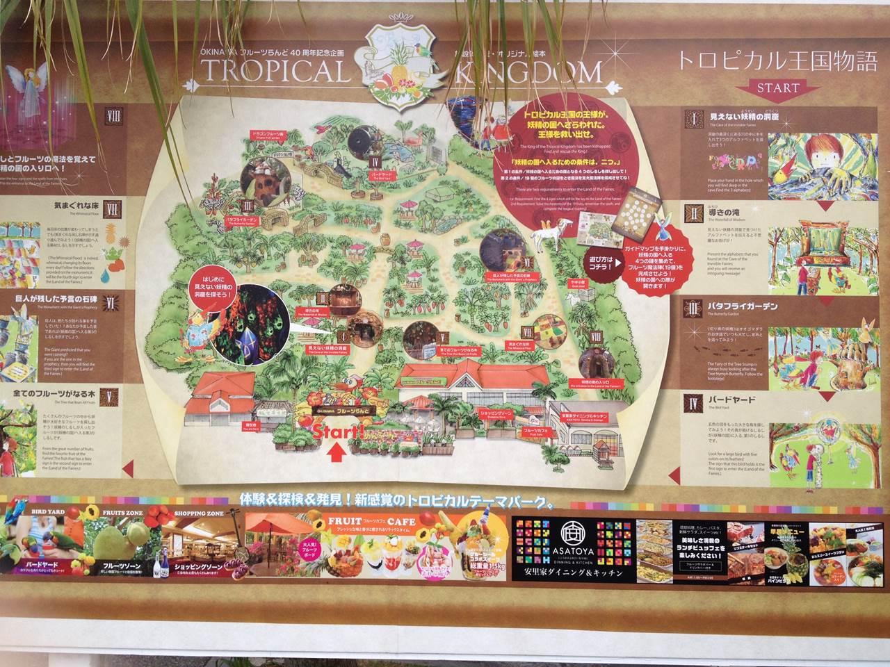 トロピカル王国の全体地図