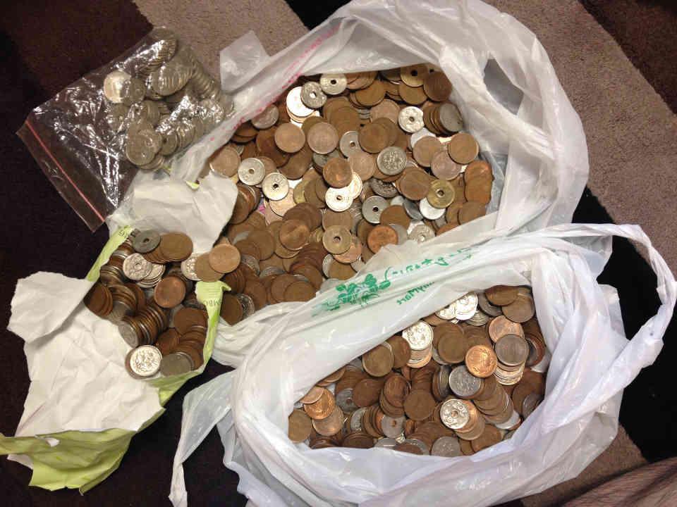 家の中にあった硬貨全部