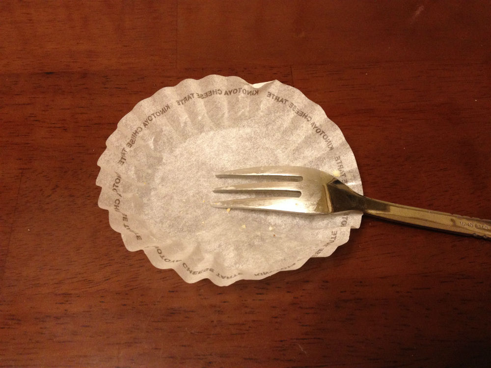 チーズタルト完食