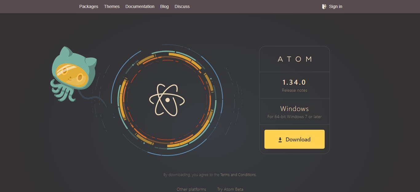 Atom公式サイト