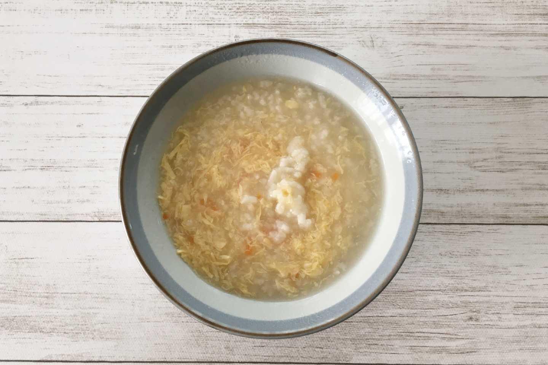 クリアスルー「鶏とたまごの雑炊」の実物画像