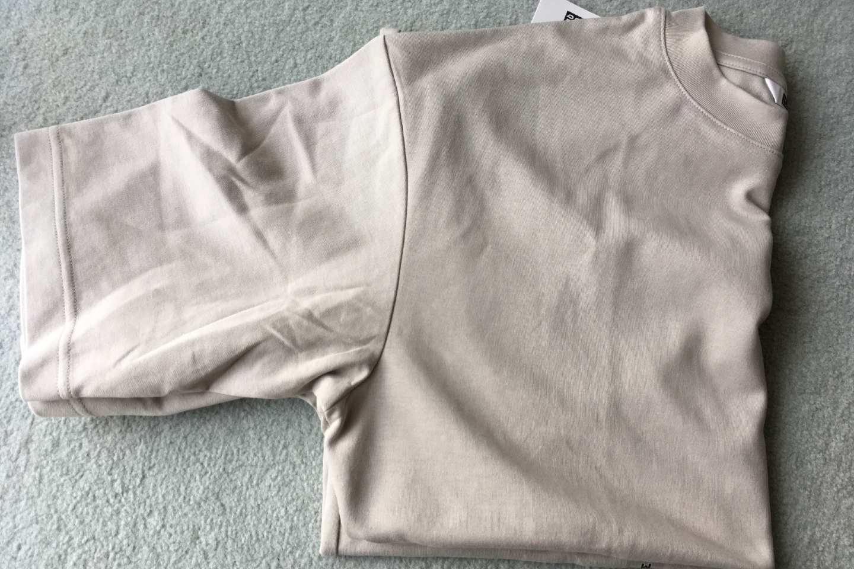 エアリズムコットンオーバーサイズTシャツの袖画像